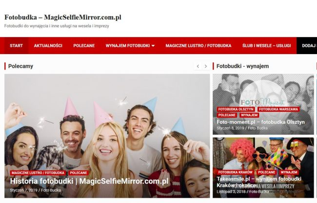 Fotobudka Olsztyn i Warmia-Mazury. Dodaj swoją firmę z 50% rabatem! | KursNaMazury.pl