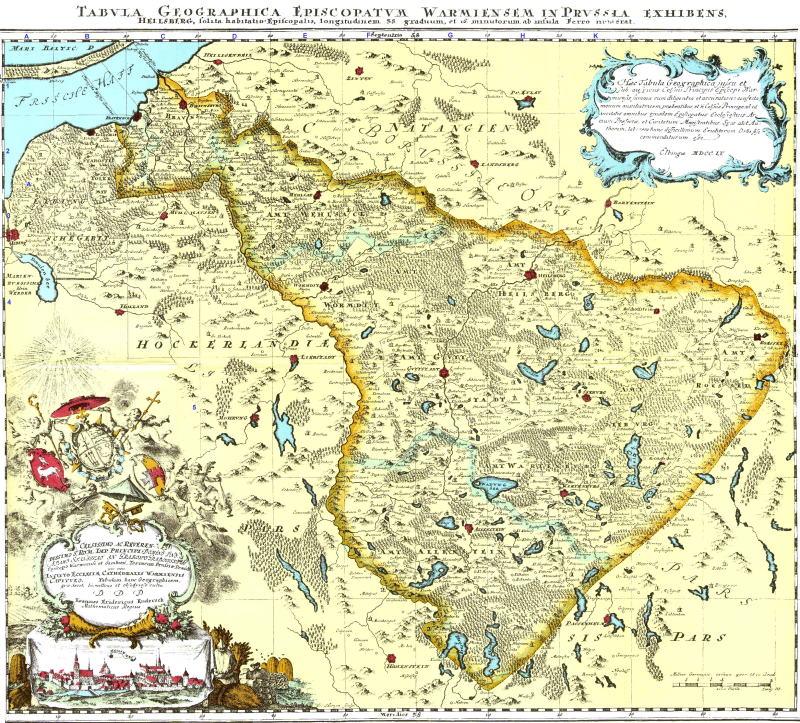 Mapa Świętej Warmii 1755